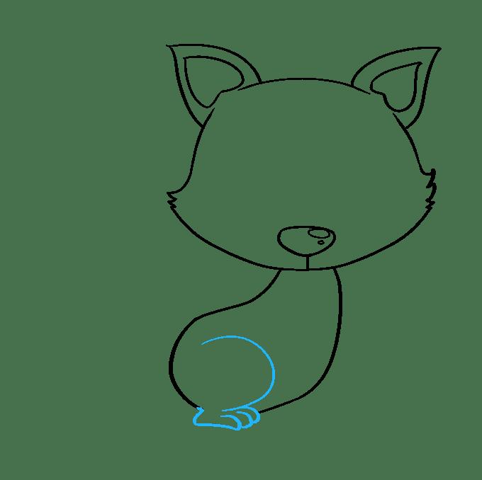 Cách vẽ con cáo con: Bước 5