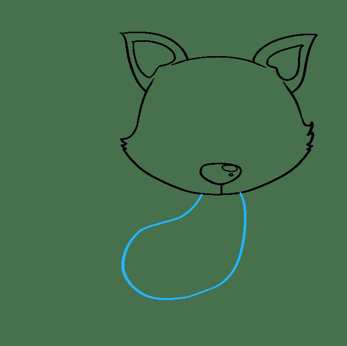 Cách vẽ con cáo con: Bước 4