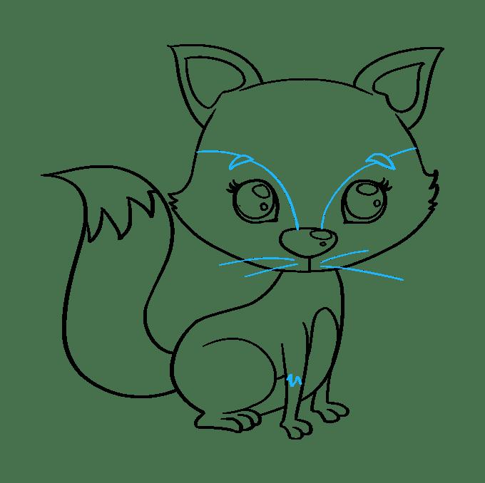 Cách vẽ con cáo con: Bước 9