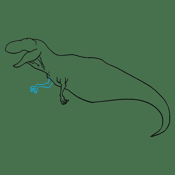 Cách vẽ Tyrannosaurus Rex: Bước 7