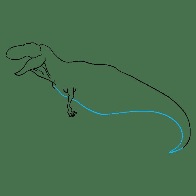 Cách vẽ Tyrannosaurus Rex: Bước 6