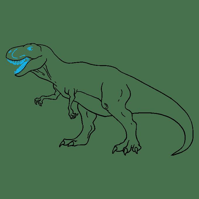 Cách vẽ Tyrannosaurus Rex: Bước 9