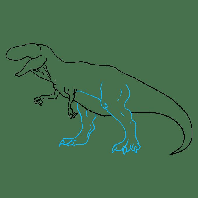 Cách vẽ Tyrannosaurus Rex: Bước 8