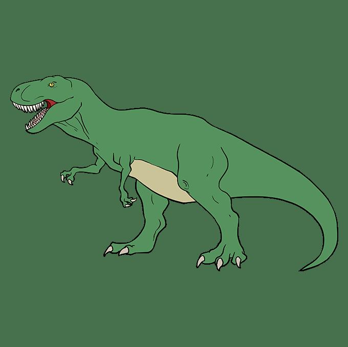 Cách vẽ Tyrannosaurus Rex: Bước 10