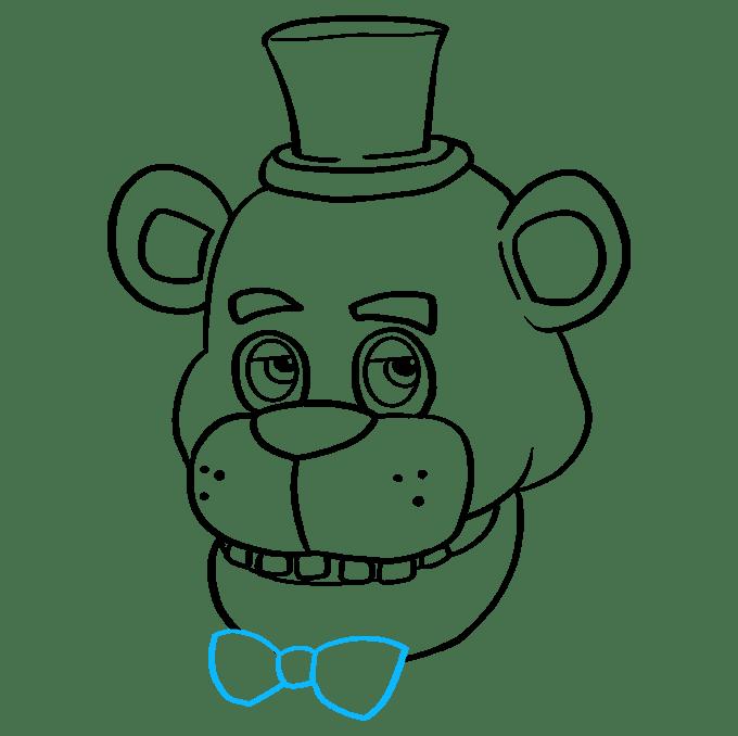 Cách vẽ Freddy Fazbear tại Five Nights tại Freddy's: Bước 9