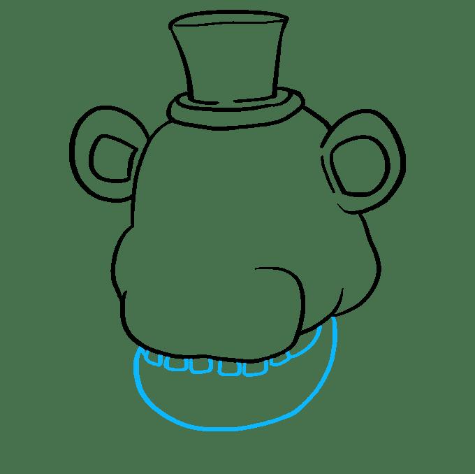 Cách vẽ Freddy Fazbear tại Five Nights tại Freddy's: Bước 5