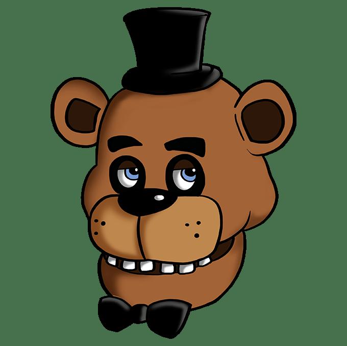 Cách vẽ Freddy Fazbear tại Five Nights tại Freddy's: Bước 10