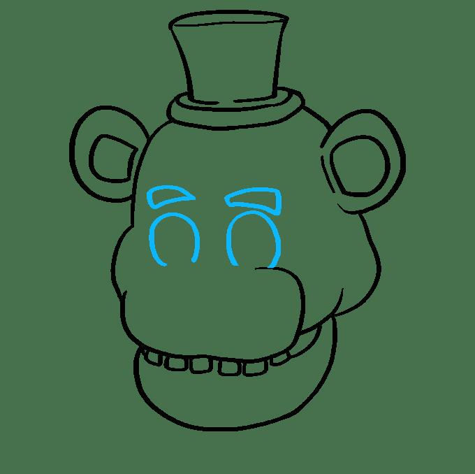 Cách vẽ Freddy Fazbear tại Five Nights tại Freddy's: Bước 6
