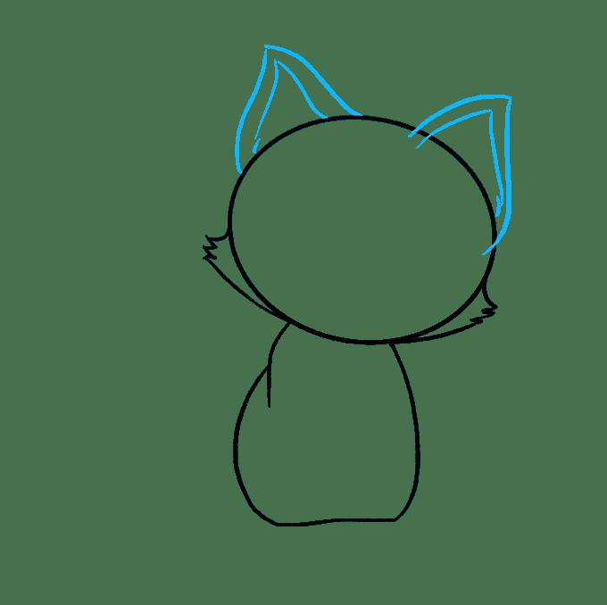 Cách vẽ mèo con: Bước 4
