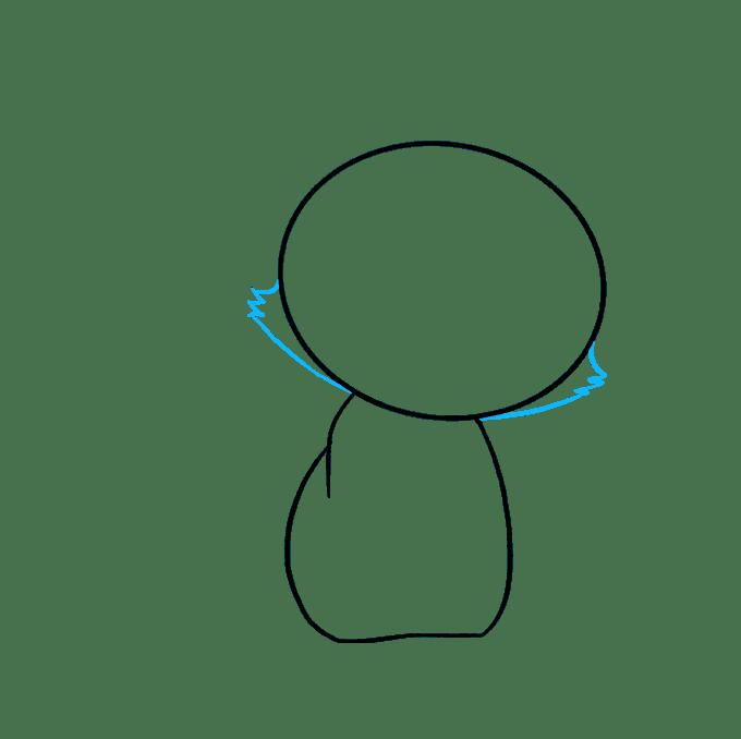 Cách vẽ mèo con: Bước 3