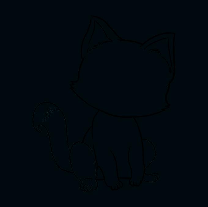 Cách vẽ mèo con: Bước 8