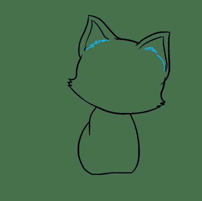 Cách vẽ mèo con: Bước 5