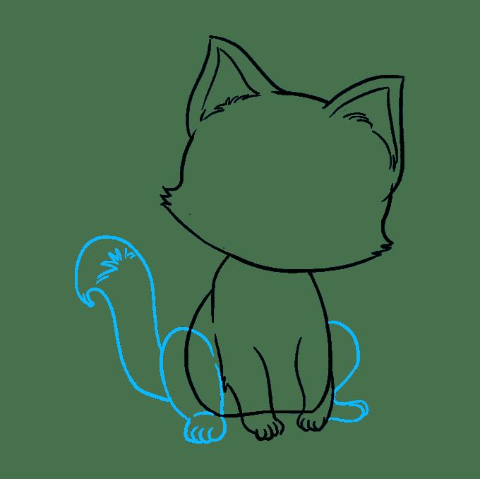 Cách vẽ mèo con: Bước 7
