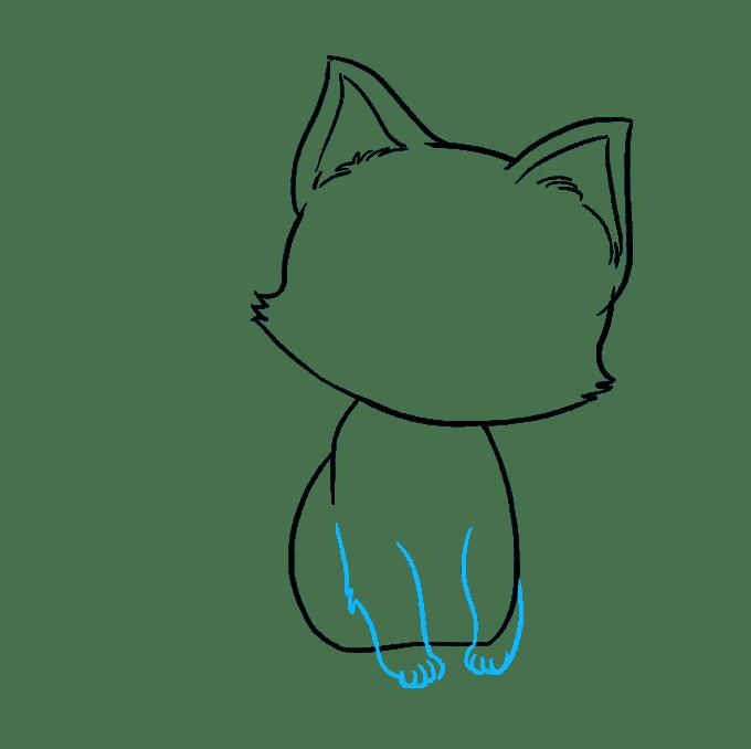 Cách vẽ mèo con: Bước 6