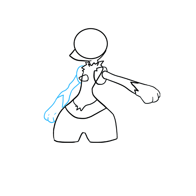 Cách vẽ Lucario: Bước 4