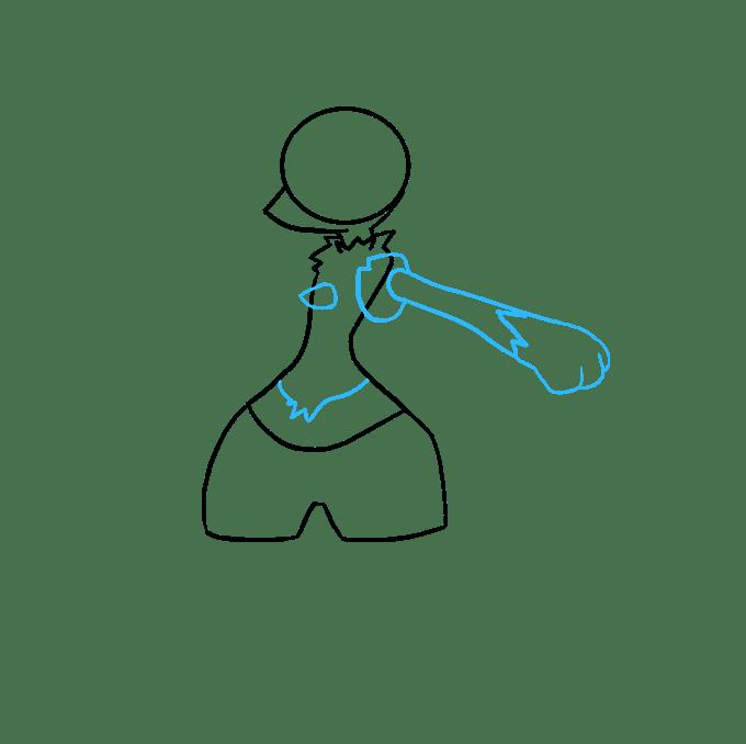 Cách vẽ Lucario: Bước 3