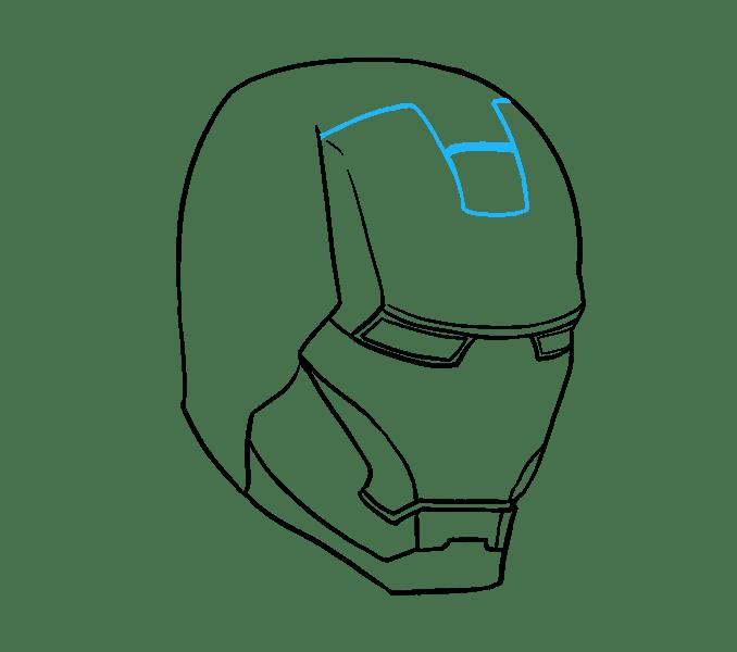 Cách vẽ mặt nạ của Iron Man: Bước 11