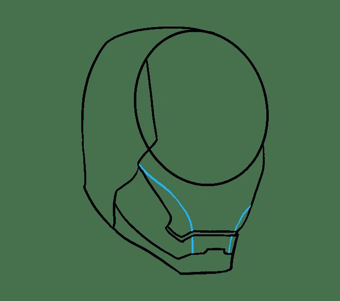 Cách vẽ mặt nạ của Iron Man: Bước 7
