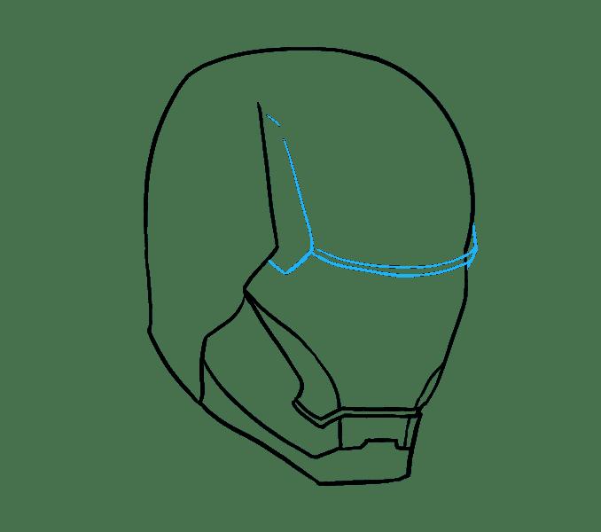 Cách vẽ mặt nạ của Iron Man: Bước 9