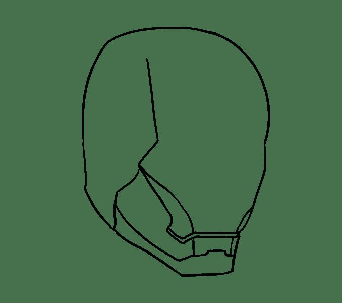 Cách vẽ mặt nạ của Iron Man: Bước 8