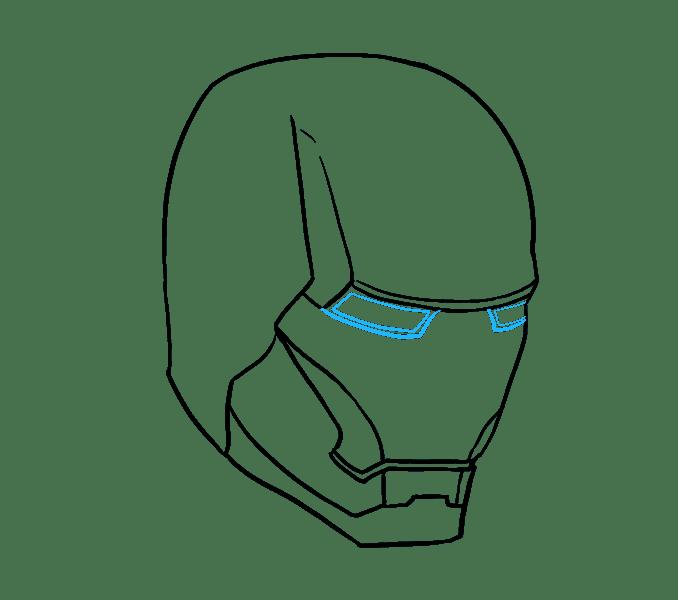 Cách vẽ mặt nạ của Iron Man: Bước 10