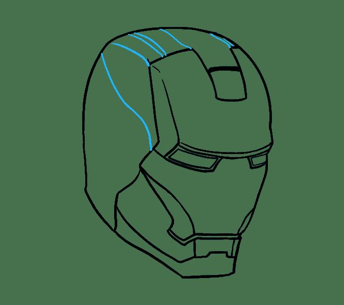 Cách vẽ mặt nạ của Iron Man: Bước 12