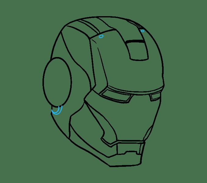 Cách vẽ mặt nạ của Iron Man: Bước 15