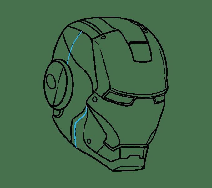 Cách vẽ mặt nạ của Iron Man: Bước 19