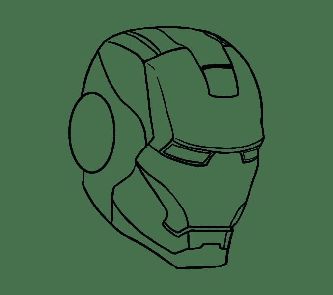 Cách vẽ mặt nạ của Iron Man: Bước 14