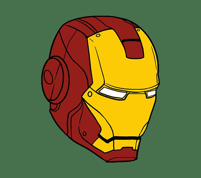 Cách vẽ mặt nạ của Iron Man: Bước 20