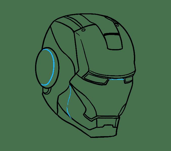 Cách vẽ mặt nạ của Iron Man: Bước 16