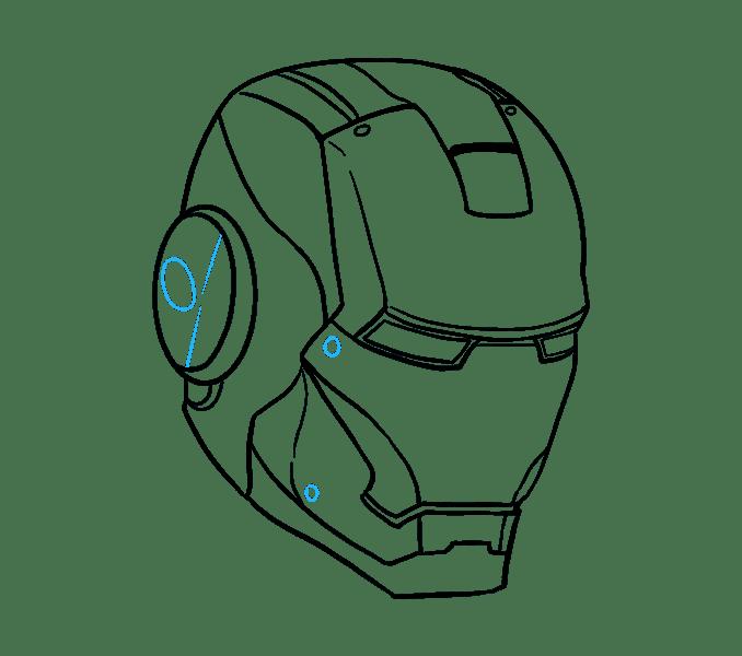 Cách vẽ mặt nạ của Iron Man: Bước 17