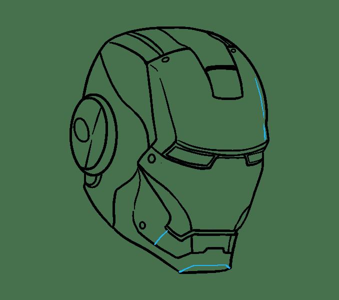 Cách vẽ mặt nạ của Iron Man: Bước 18