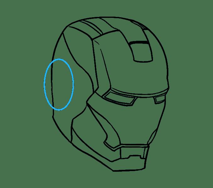 Cách vẽ mặt nạ của Iron Man: Bước 13