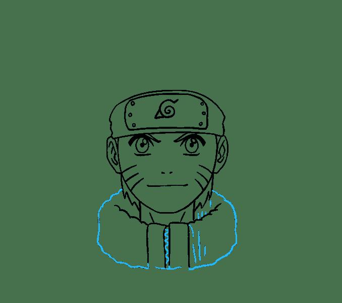 Cách vẽ Naruto: Bước 17