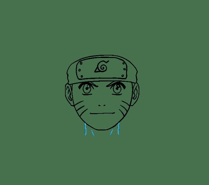 Cách vẽ Naruto: Bước 14