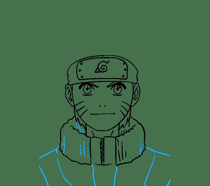 Cách vẽ Naruto: Bước 18