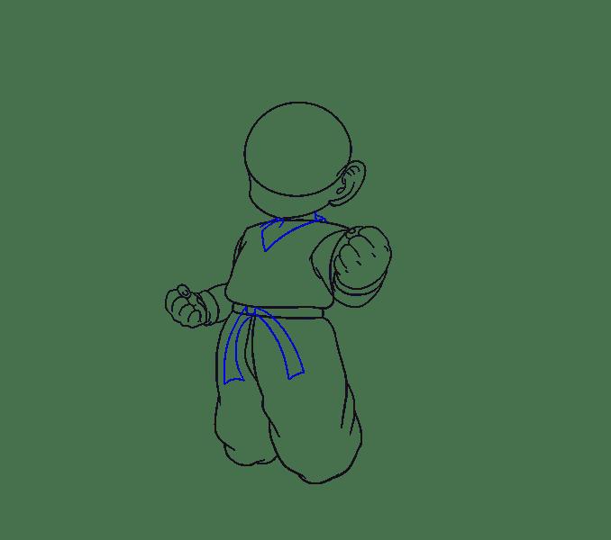 Cách vẽ Goku: Bước 11
