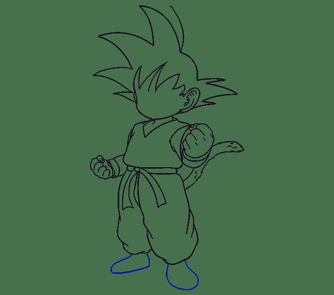Cách vẽ Goku: Bước 16
