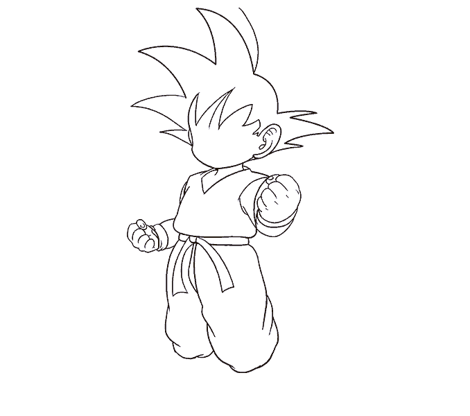 Cách vẽ Goku: Bước 14