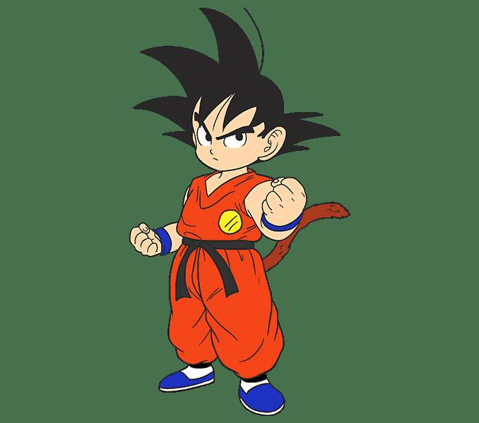 Cách vẽ Goku: Bước 20