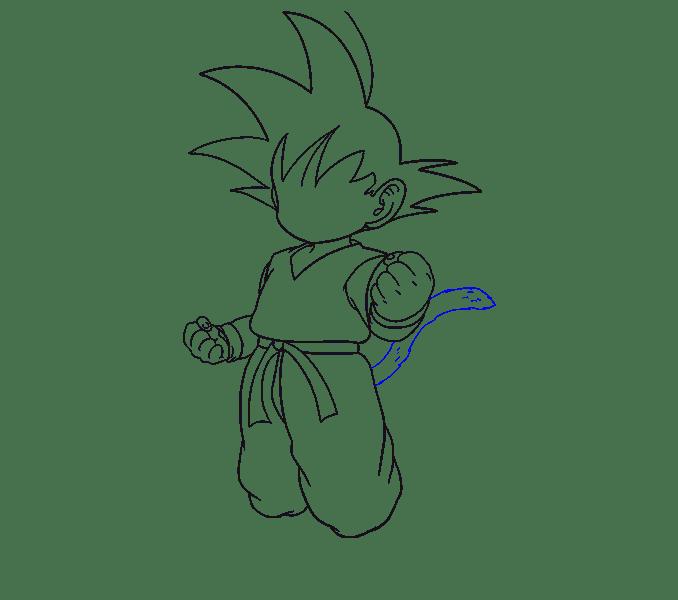 Cách vẽ Goku: Bước 15