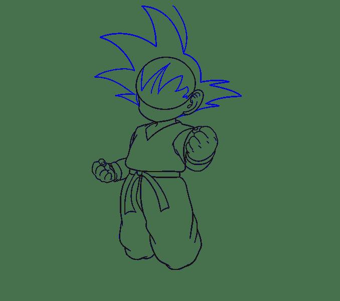 Cách vẽ Goku: Bước 13
