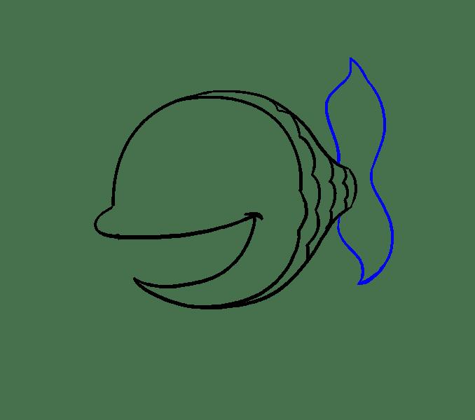 Cách vẽ cá hoạt hình: Bước 8