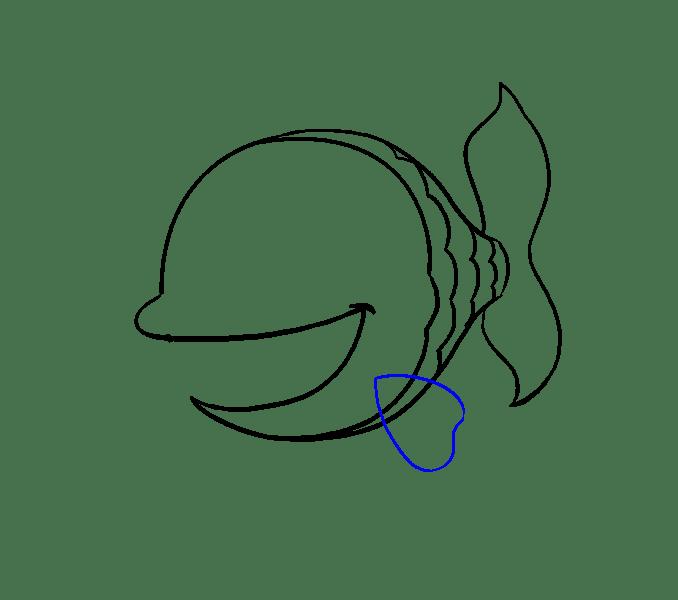 Cách vẽ cá hoạt hình: Bước 9