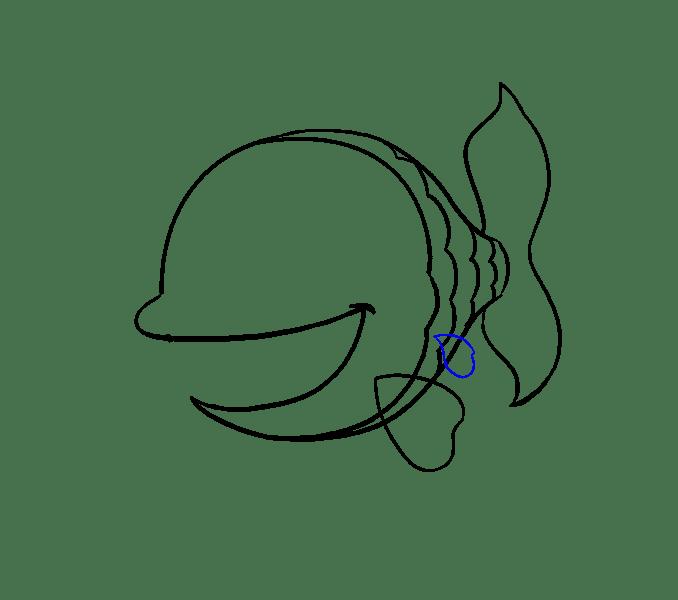 Cách vẽ cá hoạt hình: Bước 10