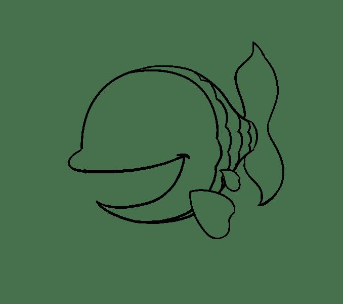 Cách vẽ cá hoạt hình: Bước 11