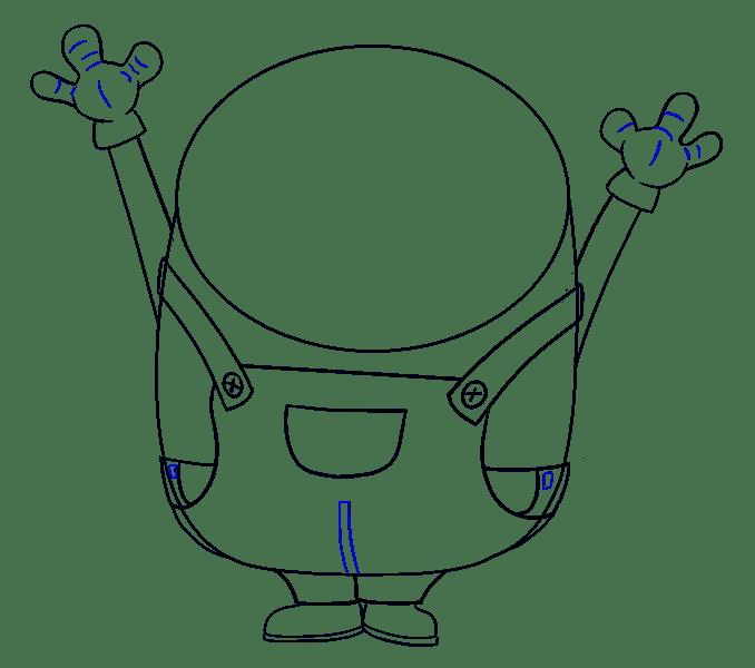 Cách vẽ Bob Minion: Bước 12