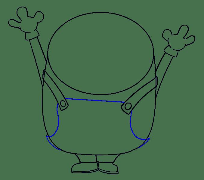 Cách vẽ Bob the Minion: Bước 10