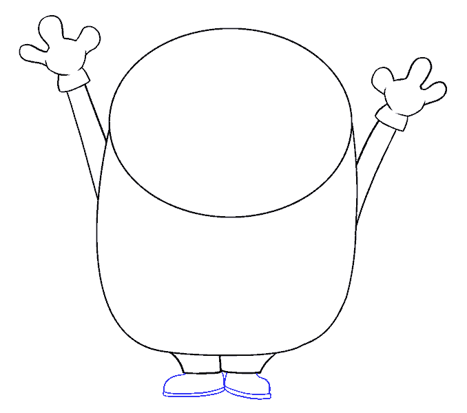 Cách vẽ Bob Minion: Bước 8